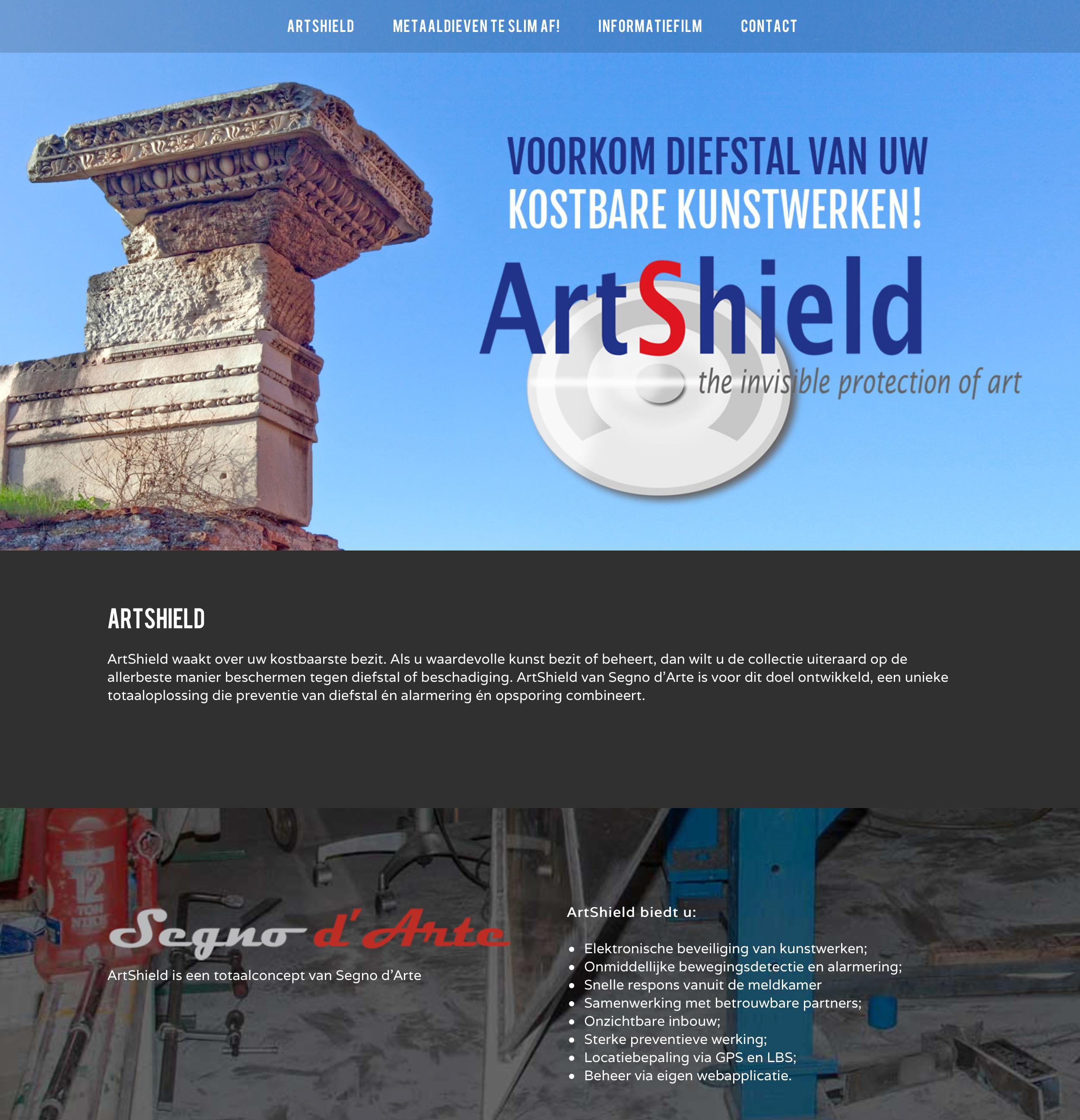 Artshield website