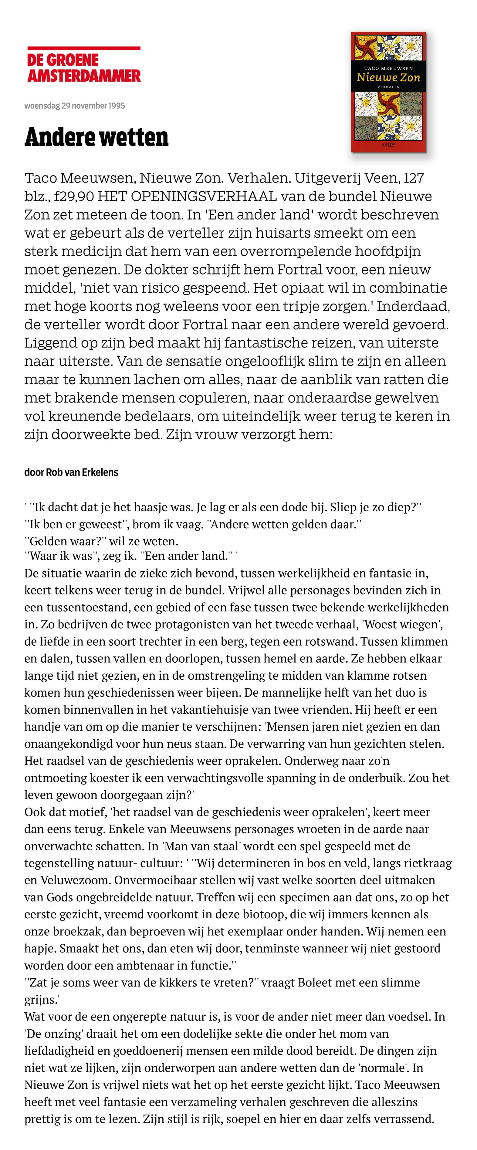 Recensie Nieuwe Zon – De Groene Amsterdammer-1